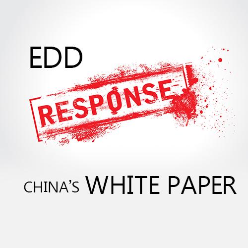 EDD Response to China's White Paper of 11 July 2011